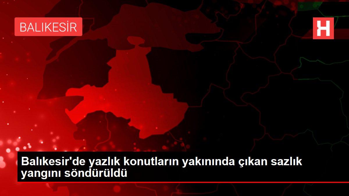 Balıkesir'de yazlık konutların yakınında çıkan sazlık yangını söndürüldü