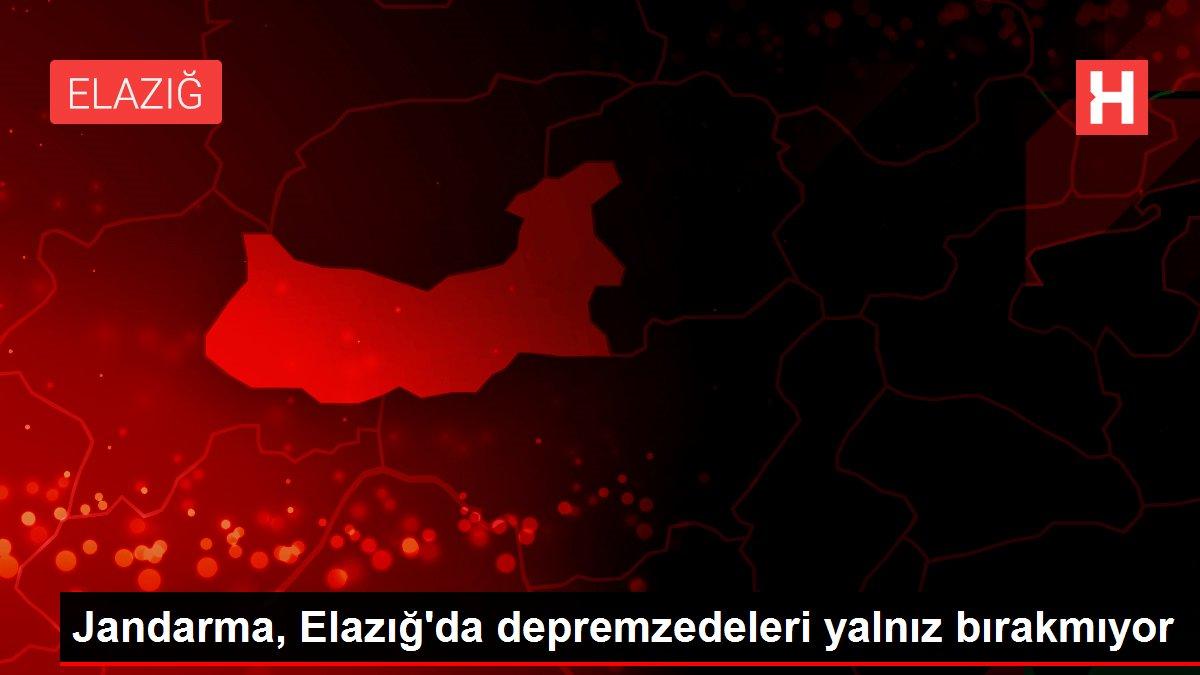 Jandarma, Elazığ'da depremzedeleri yalnız bırakmıyor